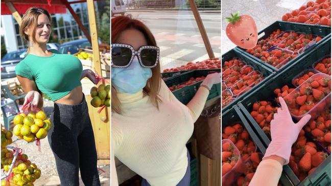 Kristina više nije Mandarina, sad jagodama privlači kupce