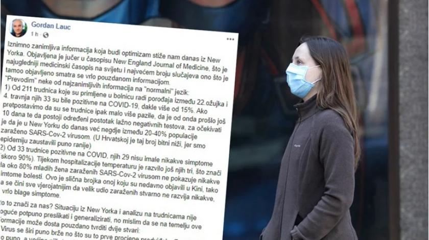 Hrvatski znanstvenik o koronairusu: 'Iz New Yorka stiže zanimljiva informacija koja budi optimizam'