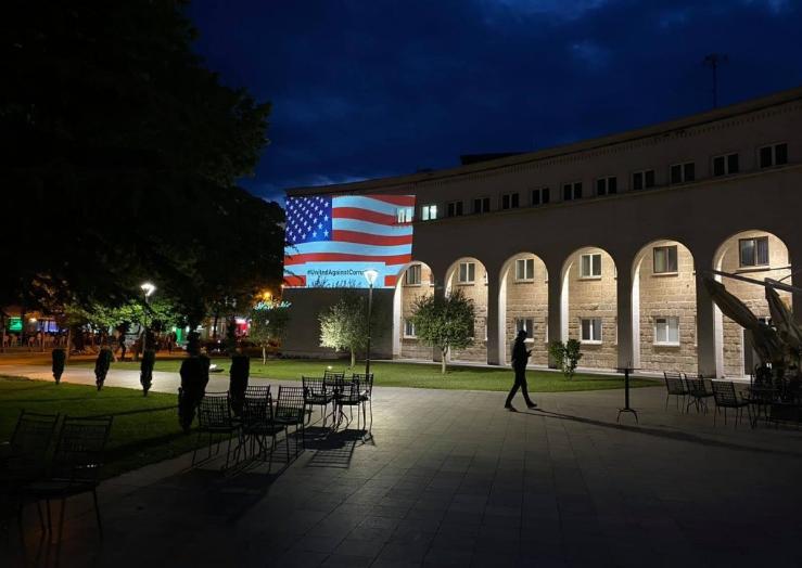Kosača zasjala zastavom SAD-a: Zajedno protiv korupcije!