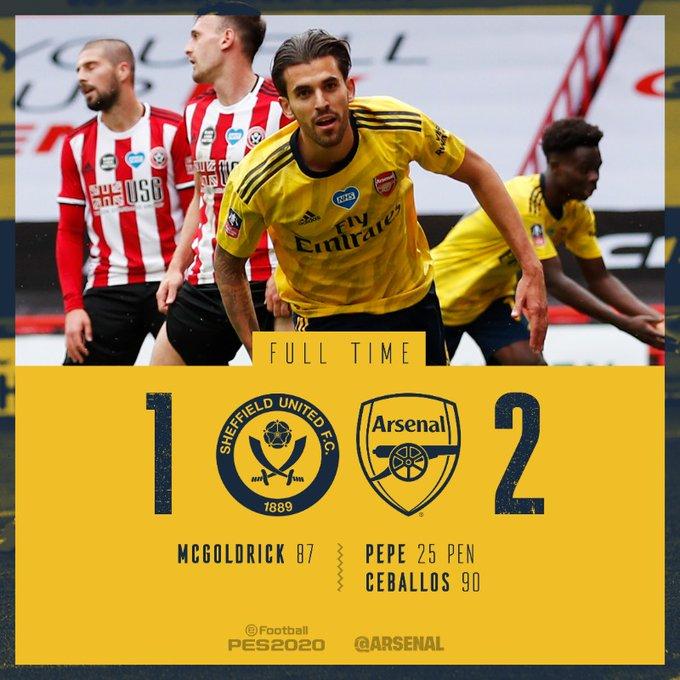Arsenal golom u sudačkoj nadoknadi izborio polufinale FA kupa