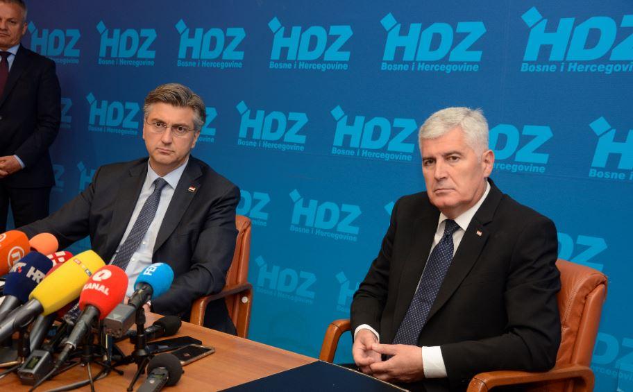 FOTO Čović i Plenković pričali o EU, posjetili i HNK Mostar