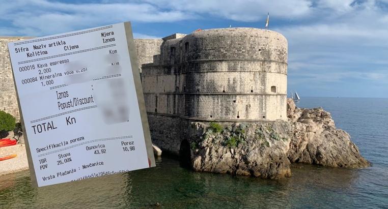 Evo koliko košta mineralna voda na najatraktivnijoj terasi u Dubrovniku bez turista