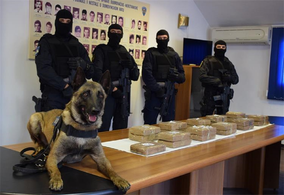 Kod Ploča zaplijenjeno rekordnih 25 kilograma kokaina