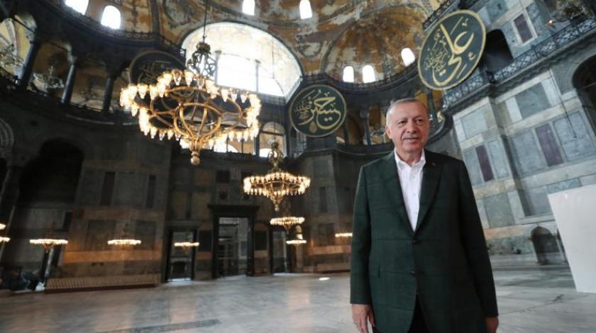 Erdogan posjetio Aja Sofiju