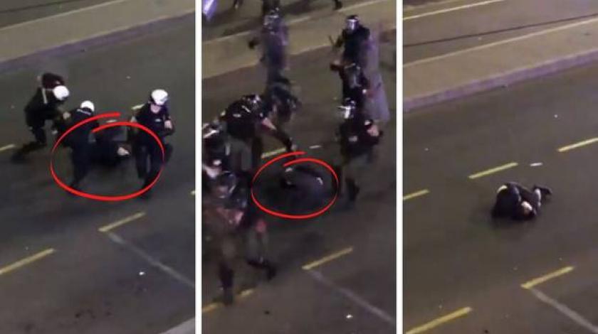 VIDEO Skupina policajaca premlatila mladića koji bespomoćno leži na ulici