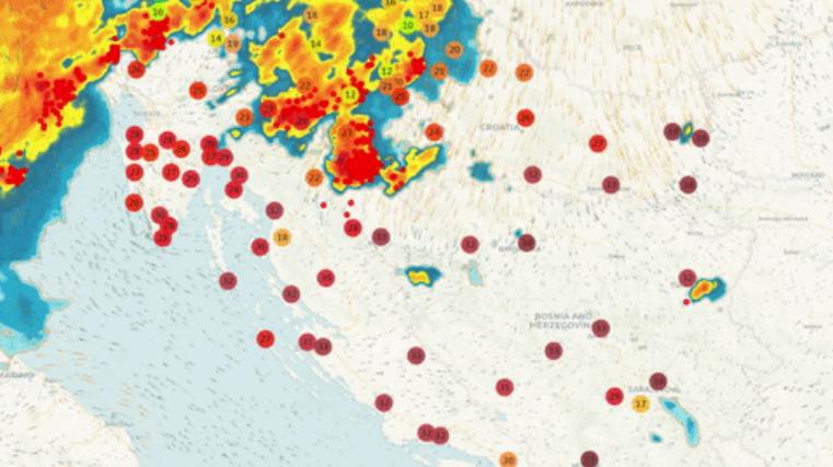 Oluja stigla do Hrvatske. Evo gdje prvo udara