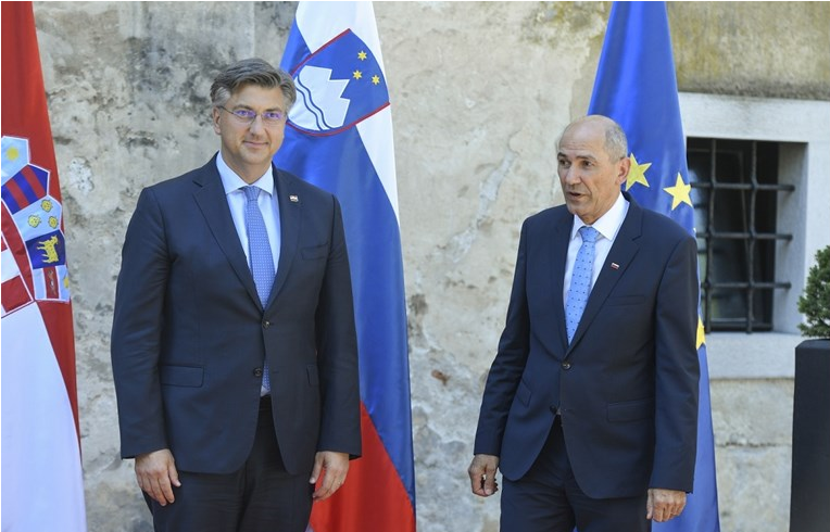 Hrvatska je još korak bliže uvođenju eura. Janša i Plenković razgovarali o mjerama