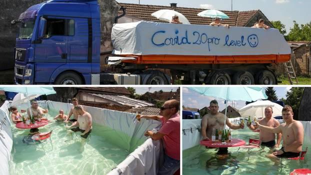 Genijalna ideja: Muškarac u kamionu napravio bazen