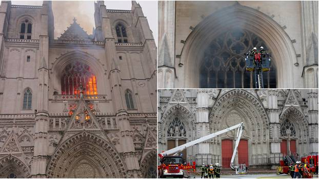 VIDEO Izbio požar u katedrali u Nantesu