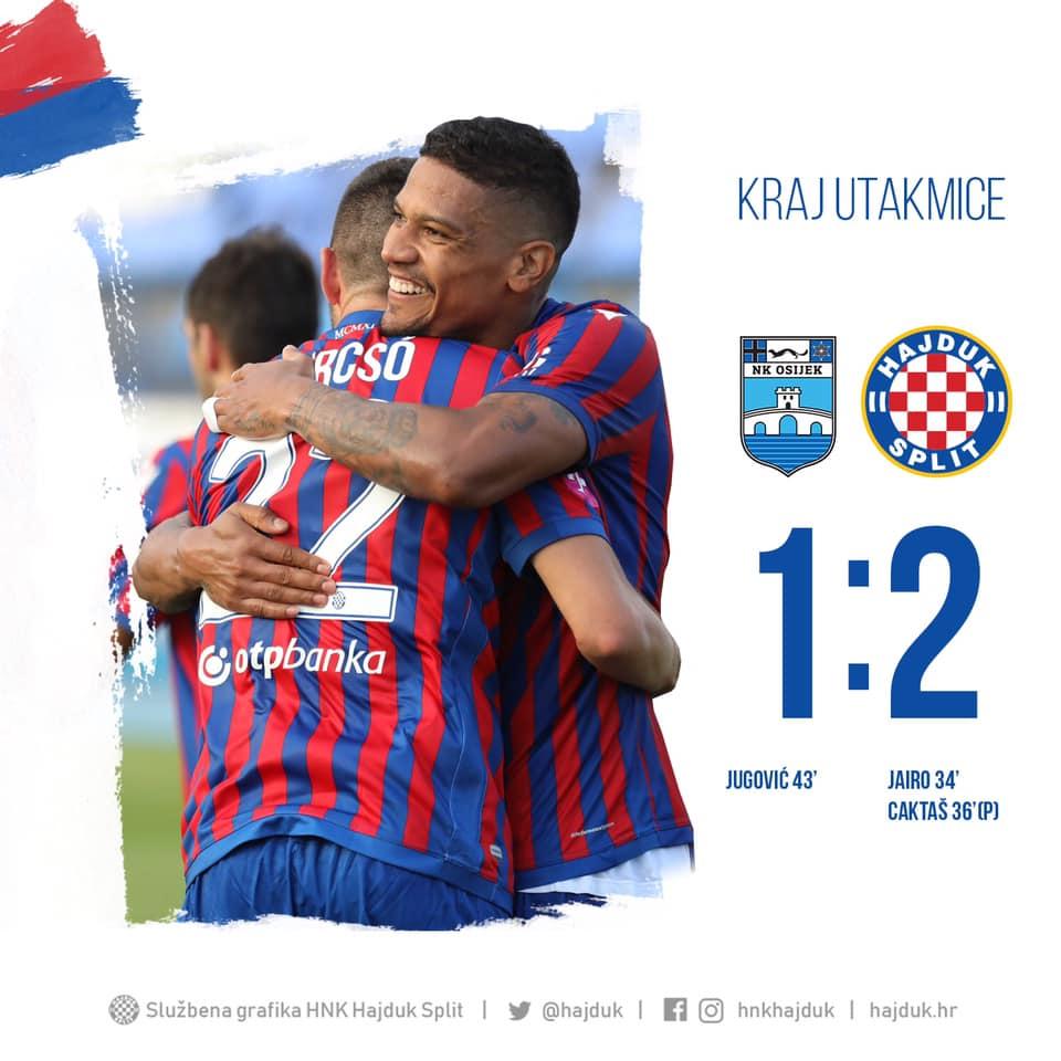 Novi Hajdukov trener debitirao pobjedom protiv Osijeka u gostima!