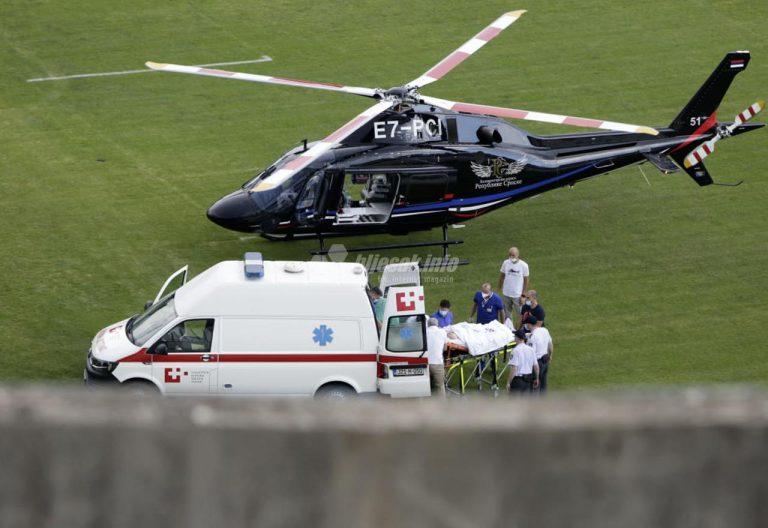 Jozo Bogdan prebačen helikopterom na liječenje u inozemstvo