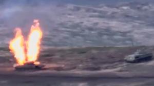 Video: Snimljena tenkovska borba Armenije i Azerbajdžana