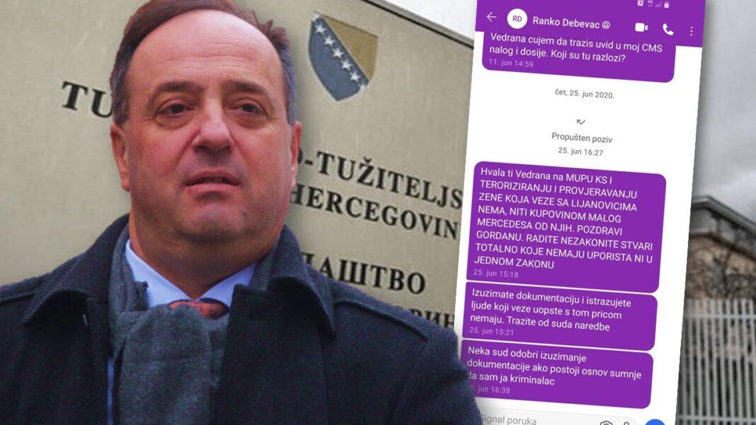 Pogledajte kakve poruke šalje predsjednik Suda BiH tužiteljici koja ga istražuje