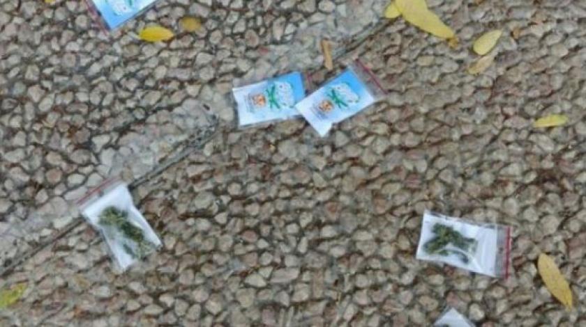 Paketići marihuane padali s neba