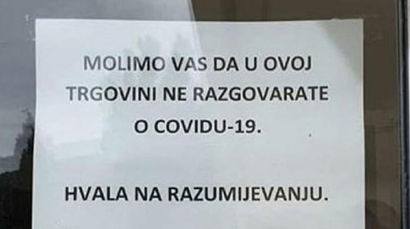 Natpis s vrata dućana u Dubrovniku postao hit na Facebooku
