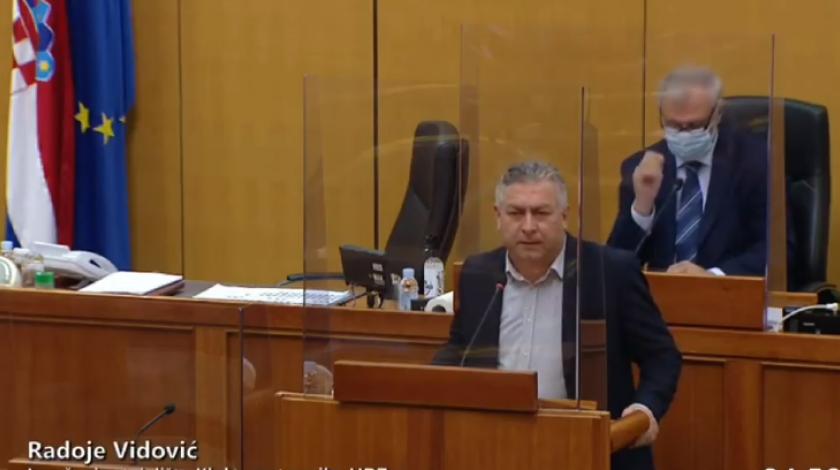Vidović u Saboru RH govorio o položaju Hrvata u BiH i izigravanju Ustava od strane bošnjaka