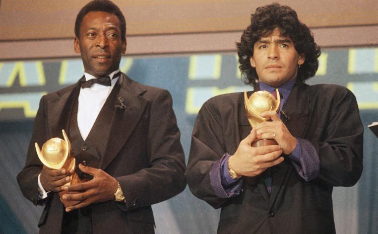 """Pele se oprostio od Maradone: """"Nadam se da ćemo se jednog dana zajedno igrati na nebu, prijatelju"""""""