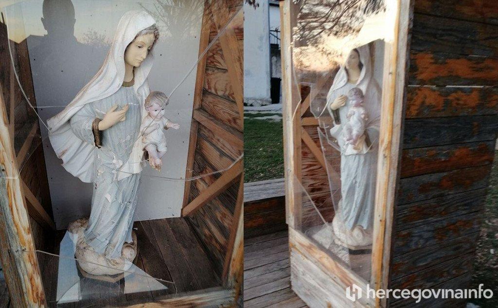 Novi incident: Slomljeno staklo na Gospinu kipu kod OŠ Hodovo