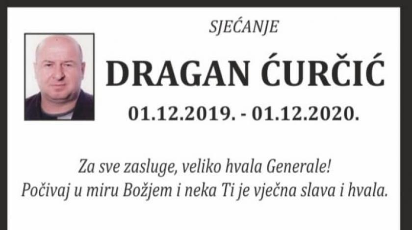 Prva godišnjica smrti general pukovnika HVO-a Dragana Ćurčića