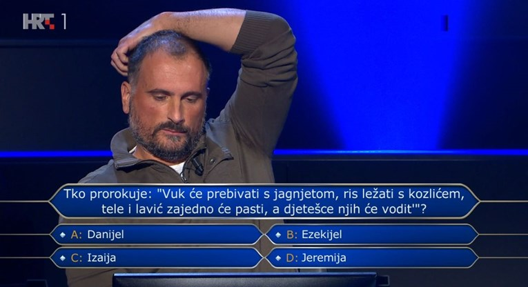 Odustao na pitanju za 250 tisuća kuna na koje je znao odgovor, biste li ga vi znali?