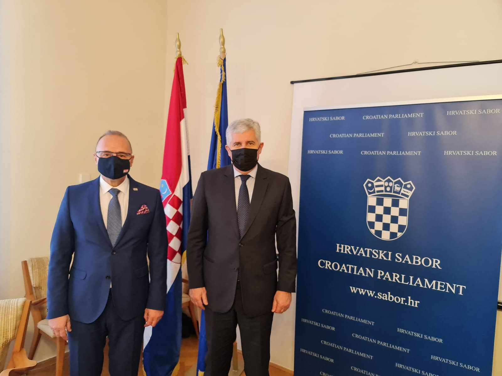 Grlić Radman – Čović: Hrvatska konstitutivnost u BiH strateški je interes RH