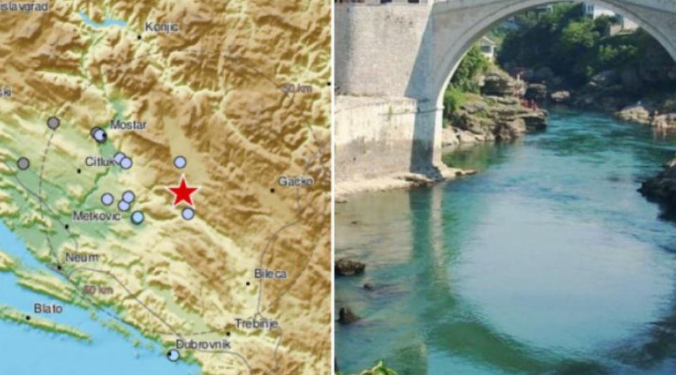Potres u Hercegovini: Zatreslo se nedaleko od Stoca