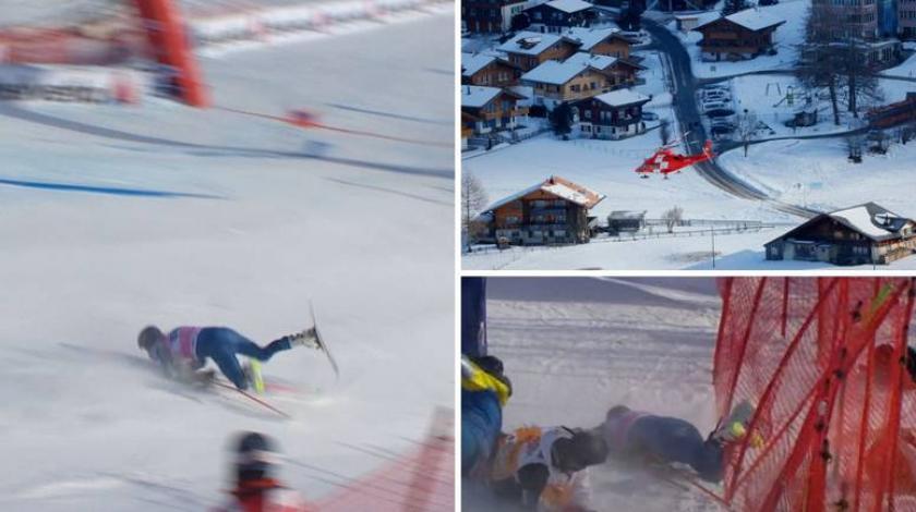 Američki skijaš nakon teškog pada ostao nepomično ležati