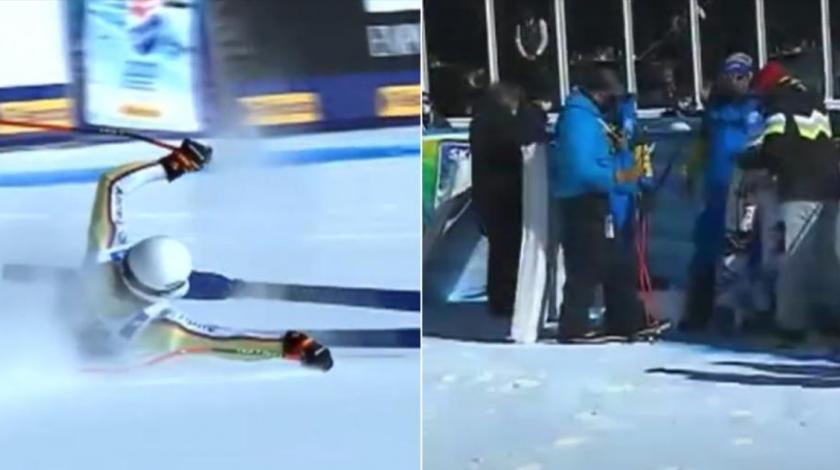 VIDEO Prilikom skijanja došlo do teže nesreće: Nijemac se zabio u reklamu