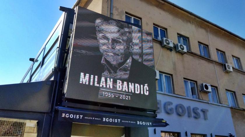 Fotografija Milana Bandića u centru Mostara