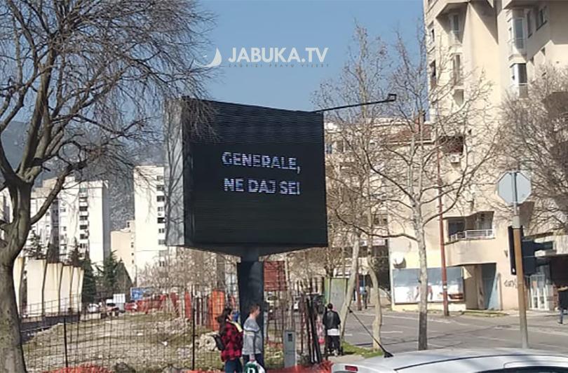 U zapadnom dijelu Mostaru osvanule poruke podrške Atifu Dudakoviću