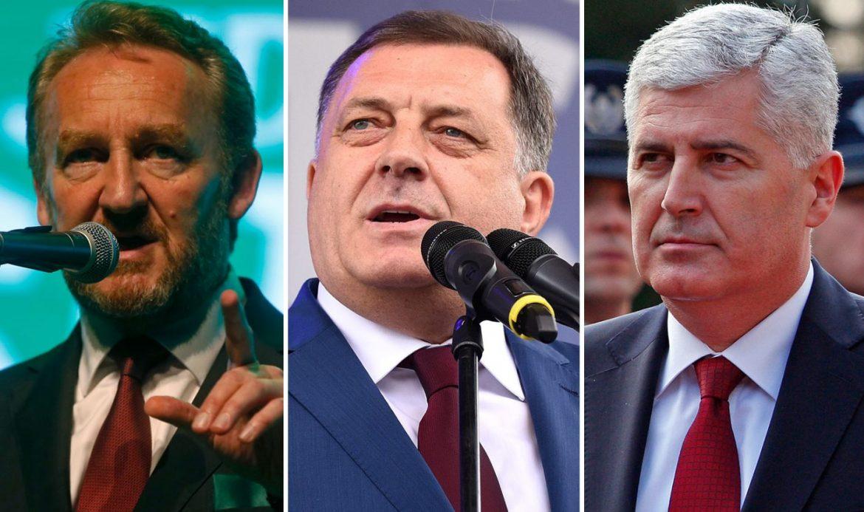 Misteriozni sastanak Dodika, Čovića i Bakira s jednom stranom institucijom u BiH