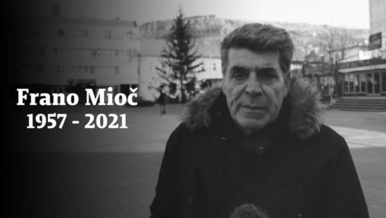 Umro je Frano Mioč. Bio je dugogodišnji novinar BHRT-a iz Livna