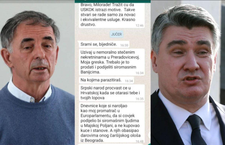 Neprepričljivo je što je Milanović uradio Pupovcu, ovo morate vidjeti
