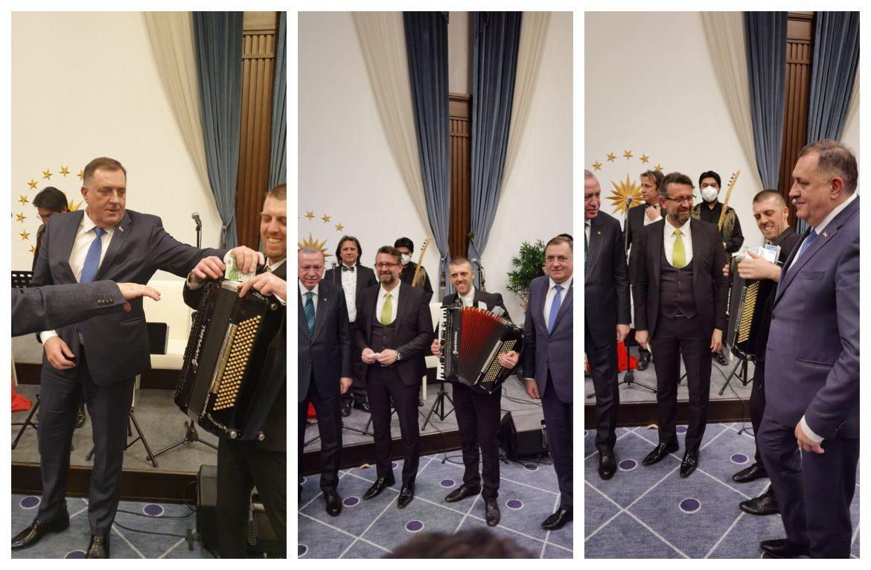 Dodik i Erdogan zakitili harmoniku nakon svečane večere