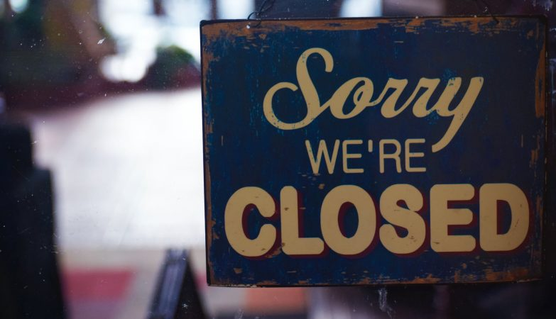 sorry we re closed signboard