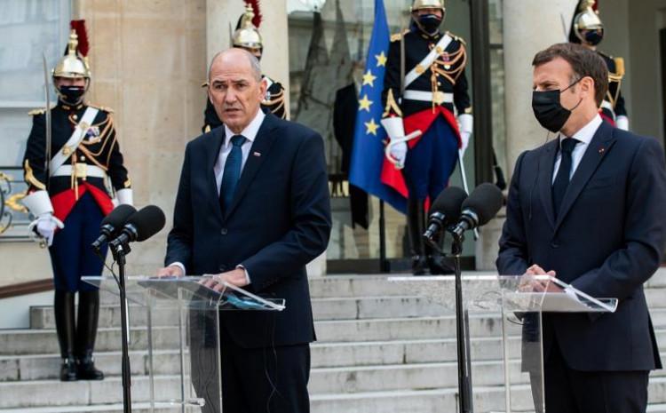 Janša i Macron razgovarali o zapadnom Balkanu