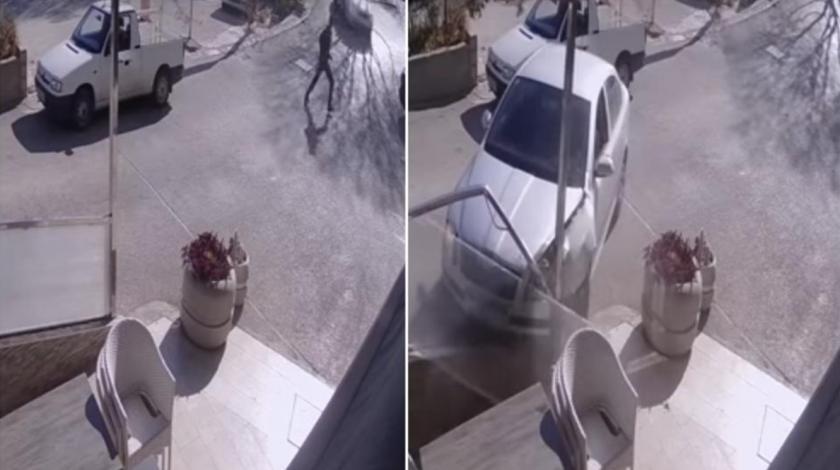VIDEO Izbjegao pješaka pa završio u terasi kafića