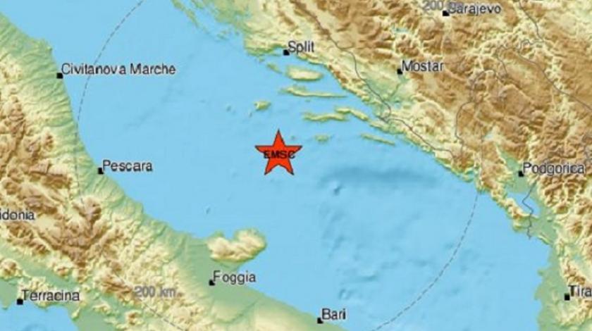 Snažan potres u Jadranu