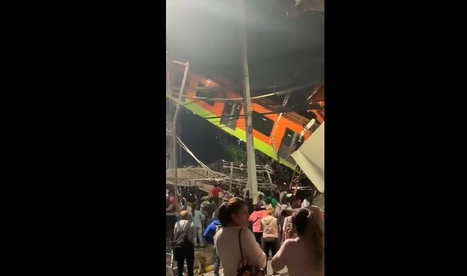 VIDEO Strava u Meksiku: Vlak pao na ljude, više osoba poginulo