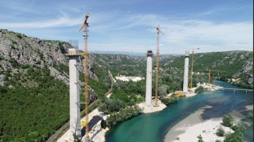 FOTO Radi se punom parom: Evo kako izgleda izgradnja mosta Počitelj