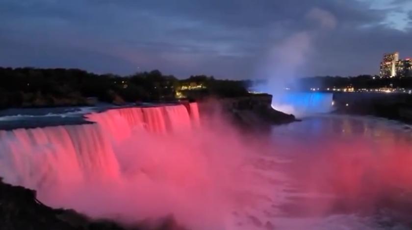 Američki slapovi Niagare zasvijetlili u bojama hrvatske zastave