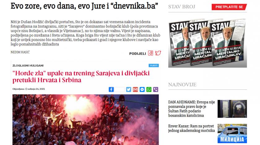 Hajka umjesto komunikacije: Brutalno etiketiranje novinara portala Dnevnik.ba
