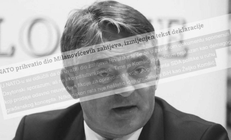 Index oderao Komšića: Apologet SDA politike i rušitelj ideje BiH