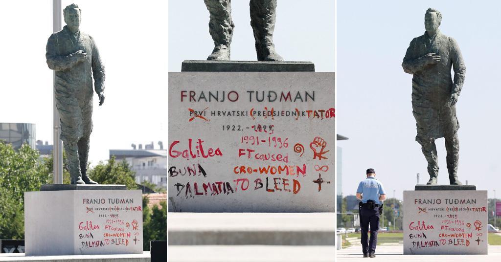 Pronađena 34-godišnjakinja koja je išarala spomenik Franji Tuđmanu u Zagrebu