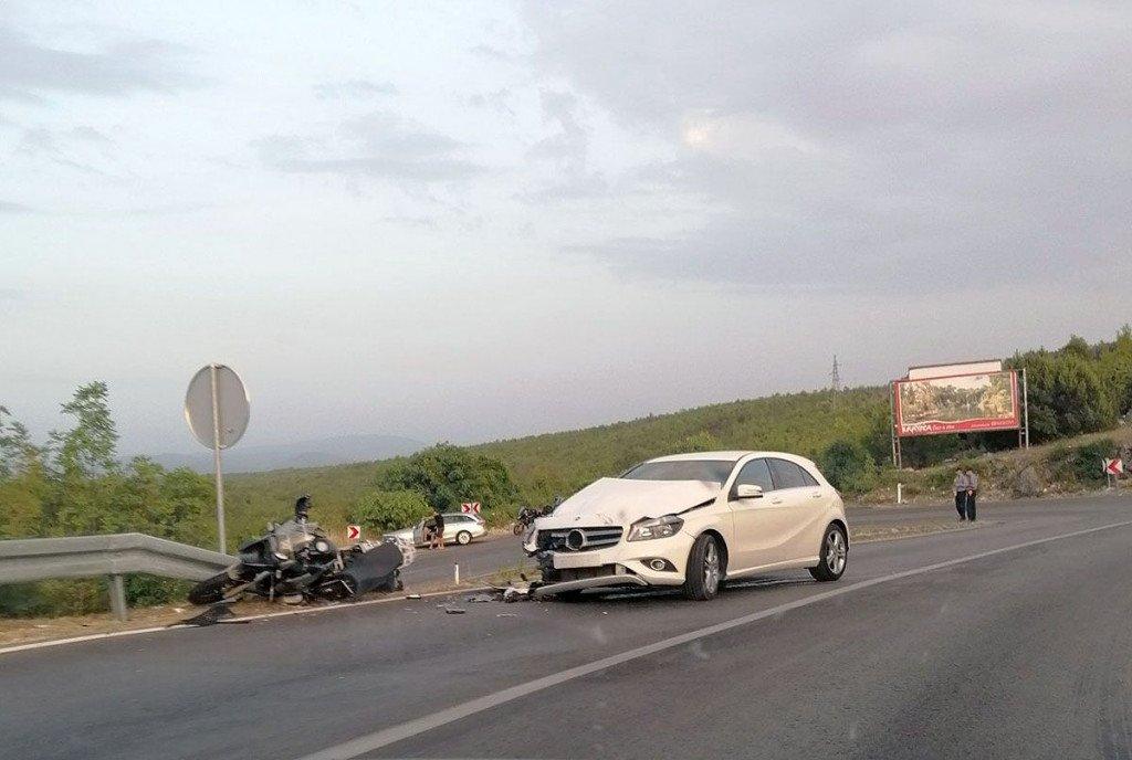 Motociklist teže ozlijeđen u nesreći na cesti  Mostar – Čitluk