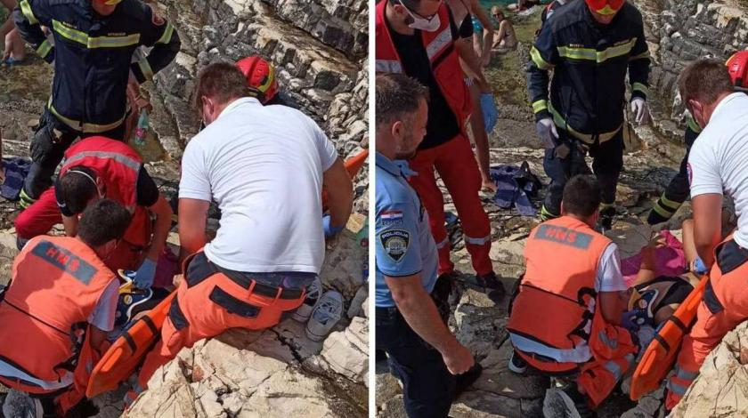 Skakala u more s 14 metara pa teško ozlijedila leđa